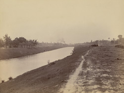 Canal from Tolly's Nullah to Dock, Calcutta Docks